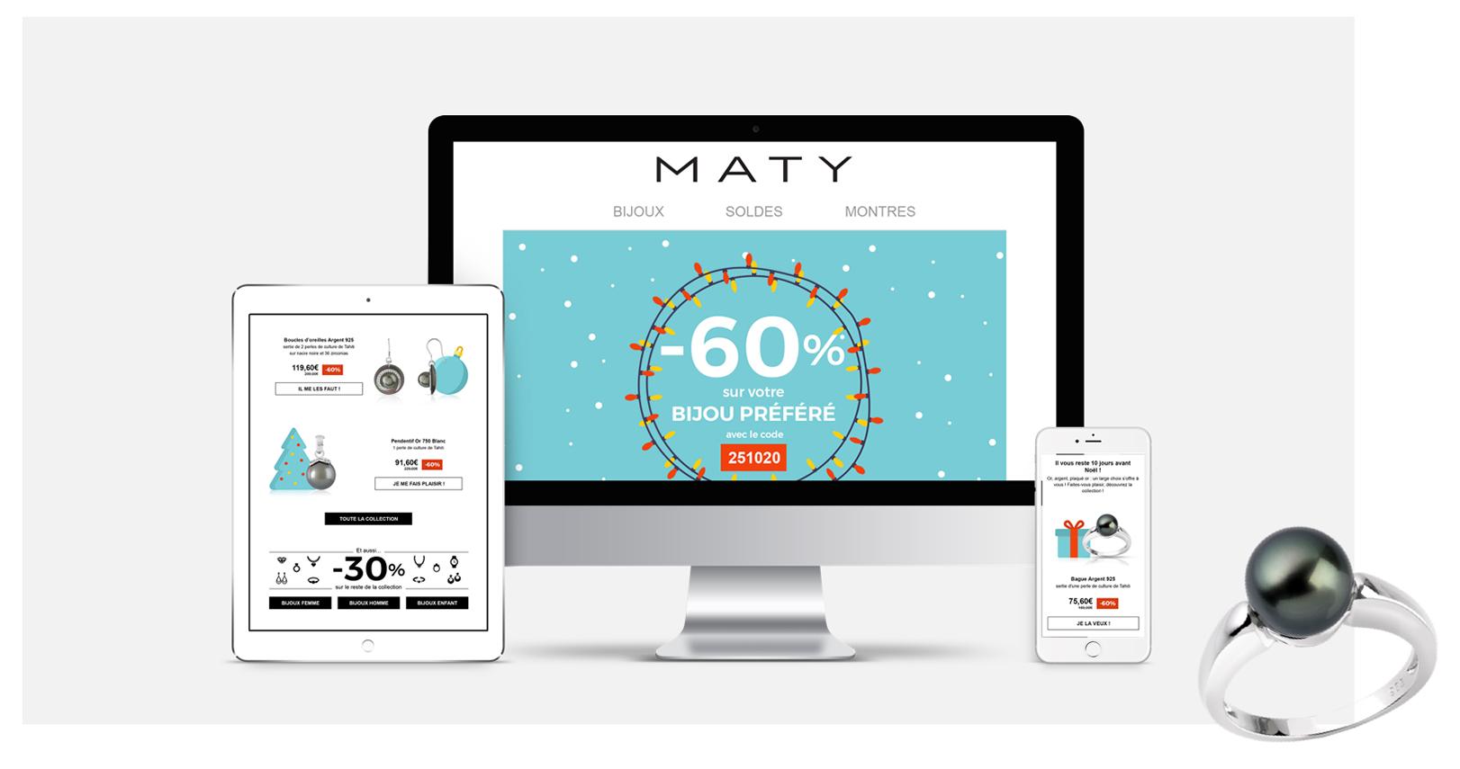 MATY - campagne email de Noël - Dartagnan