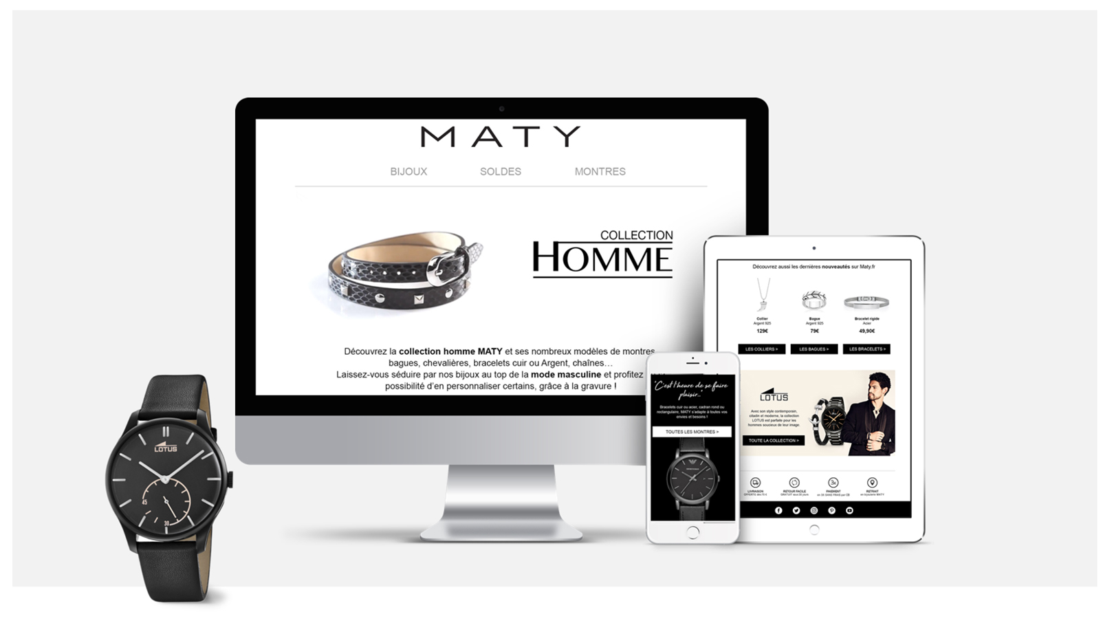 MATY - campagne email Collection hommes - Dartagnan