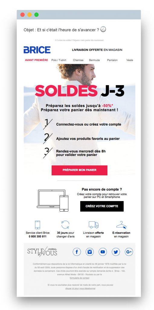 Sales email: Brice
