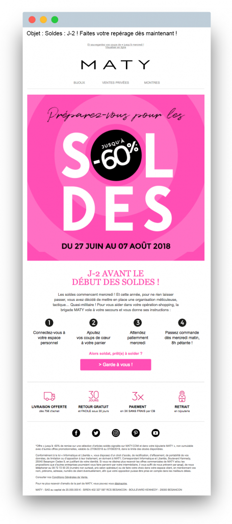 Sales email: Example from Maty