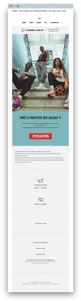 Sales email: Nike
