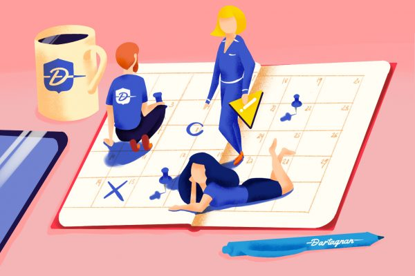 Illustration calendrier marketing et CRM - Dartagnan