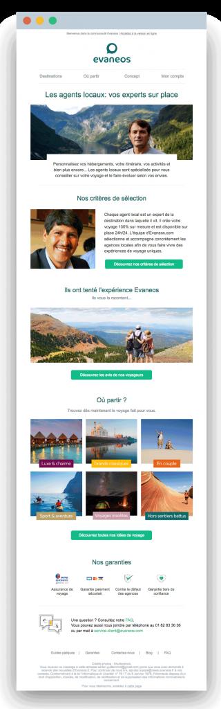 Email Welcome Evaneos à J+14 - Dartagnan