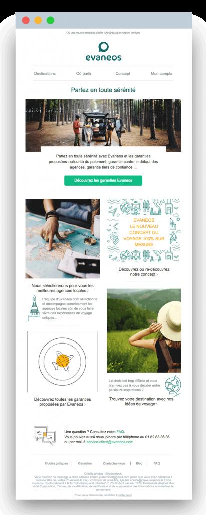Email Welcome Evaneos à J+22 - Dartagnan