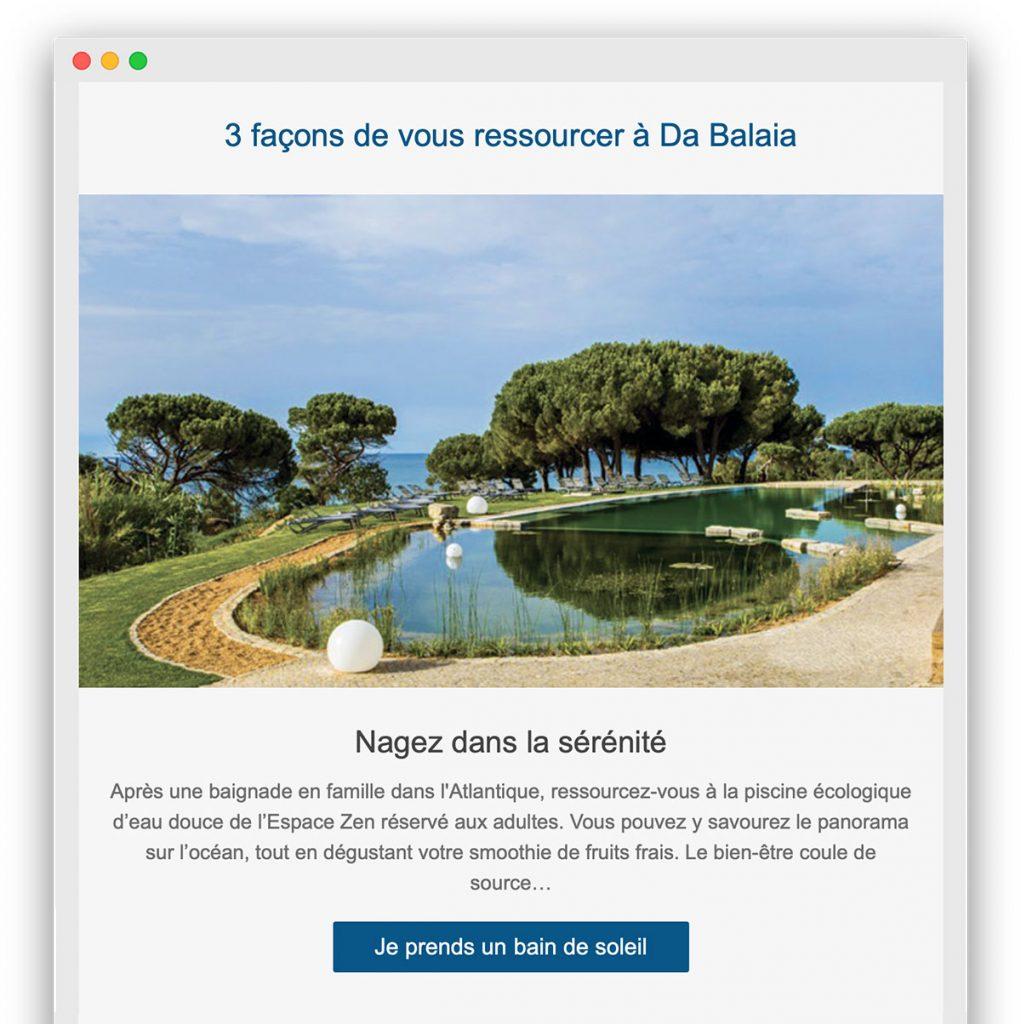 Un message, un CTA : l'exemple d'une campagne email de Club Med