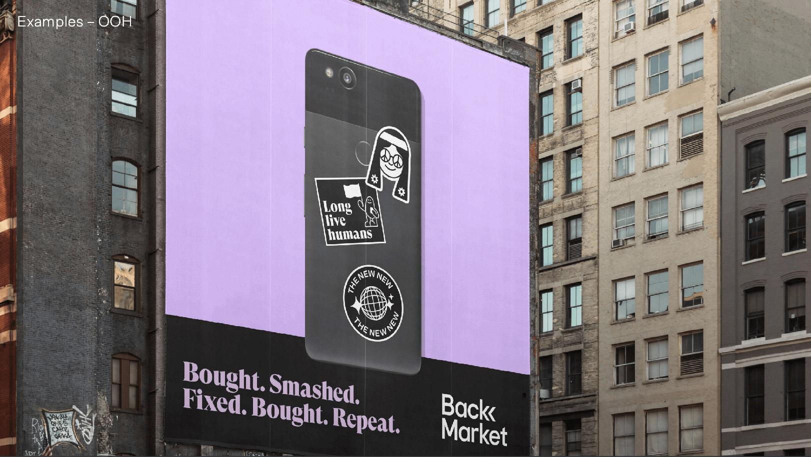 Campagne d'affichage de Back Market à New York